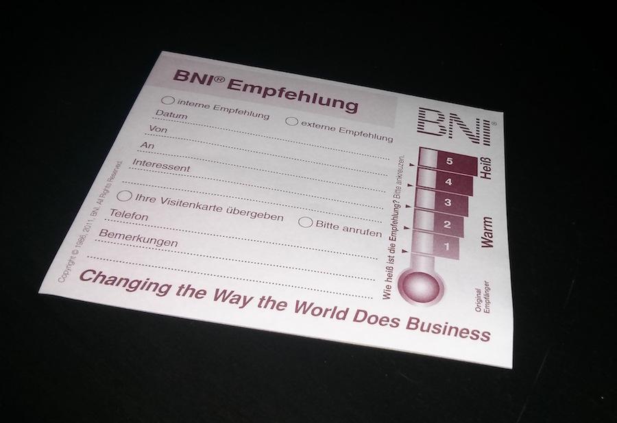 BNI-Empfehlungen-dokumentation