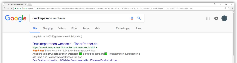 Google berücksichtigt Inhaltsverzeichnisse