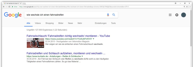 Videos werden von Google zum Teil bevorzugt