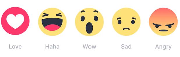 Facebook Reactins