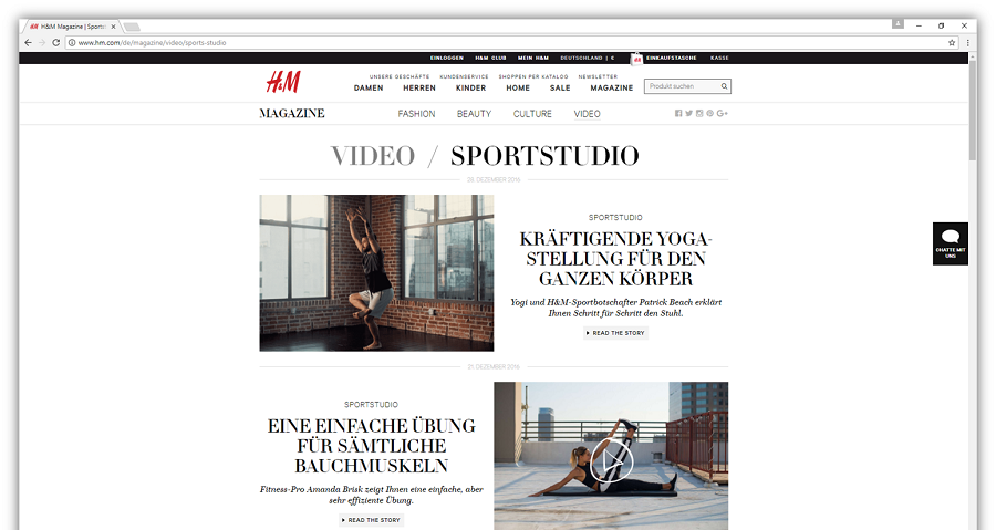 Content Marketing bei H&M