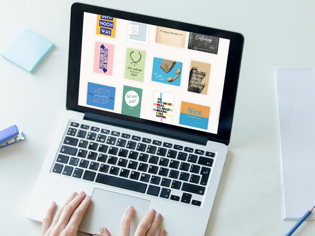 Postkarte auswählen, Text eingeben, fertig - mit EchtPost